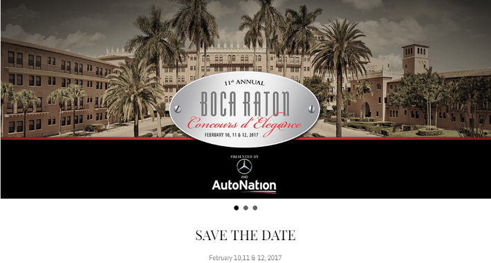 2017 Boca Raton Concours d'Elegance coming up this weekend at the Boca Raton Resort