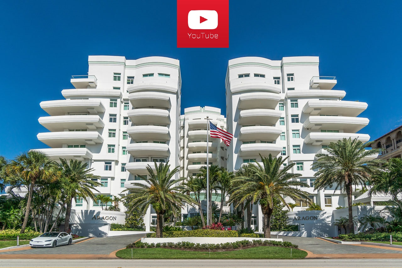 Click the image to see the video of 2494 S Ocean Blvd, Boca Raton, FL 33432 The Aragon luxury oceanfront condo for sale