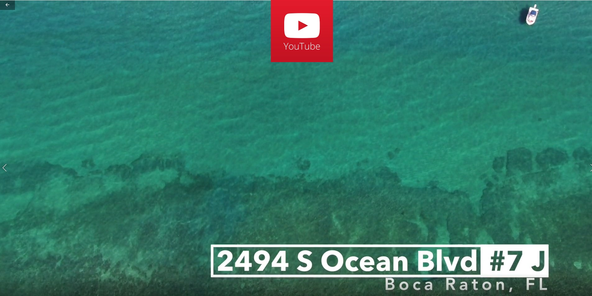 Click the image to see the video of 2494 S Ocean Blvd J7, Boca Raton, FL 33432 The Aragon luxury oceanfront condo for sale