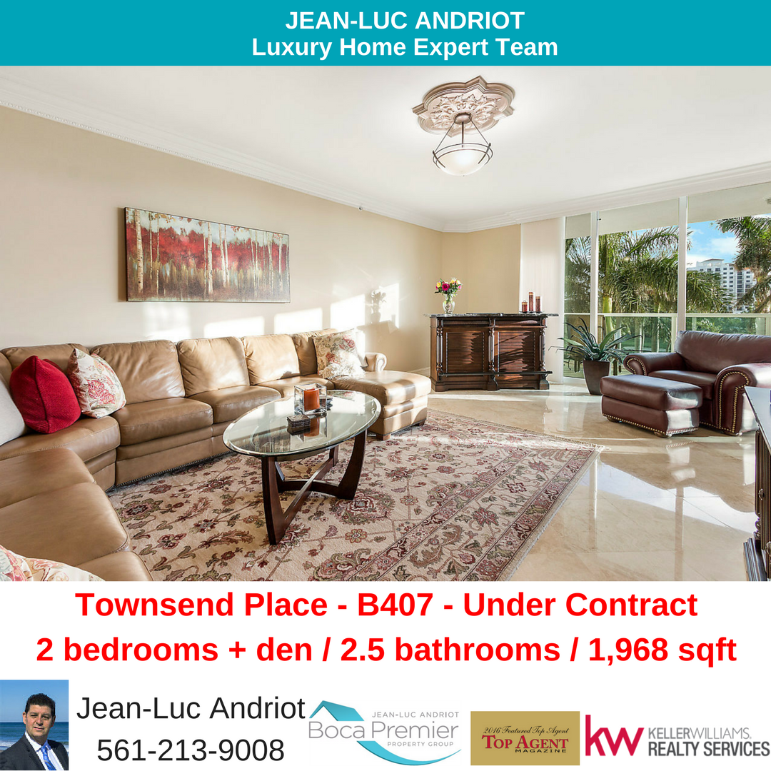 550 SE Mizner Blvd B407 Boca Raton FL 33432 Townsend Place RX-10384486 mls report ctg customer report