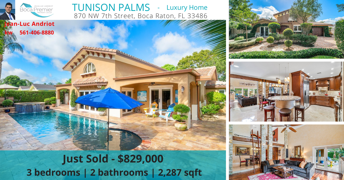 Just sold: 870 NW 7th Street, Boca Raton, FL 33486 RX-10673888 in Tunison Palms