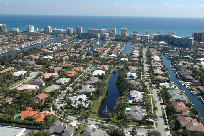 Aerial Picture Boca Bay Colony Boca Raton luxury homes for sale
