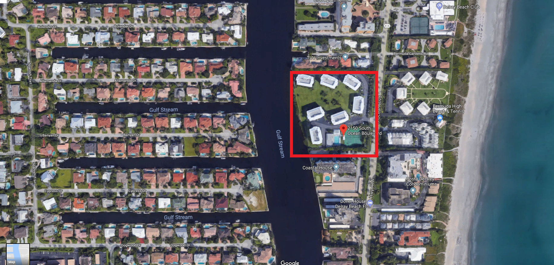 Bermuda High West 2150 S Ocean Blvd Delray Beach FL 33483 luxury condos for sale aerial