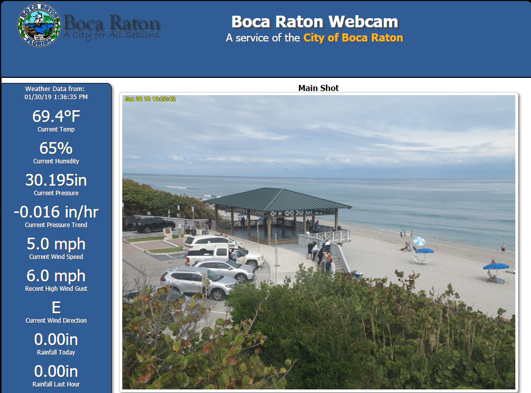 Boca Raton Beach current temperature 70 for Jean-Luc Andriot blog 013019