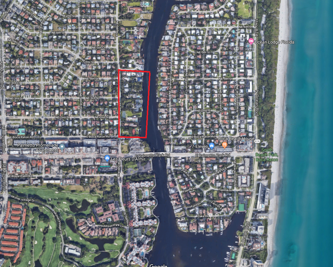Boca Raton Kinney and Gates luxury homes for sale aerial