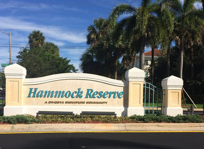 Delray Beach Hammock Reserve entrance sign