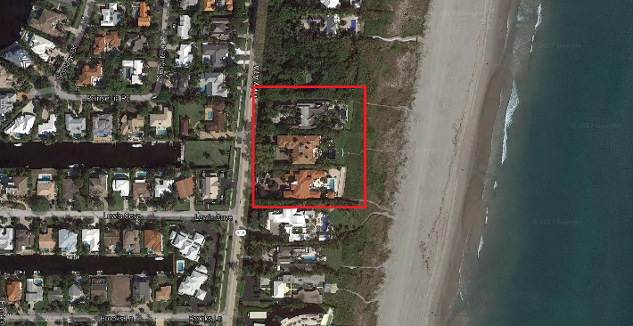 Delray Beach Ocean Breeze Estates on Ocean homes for sale aerial