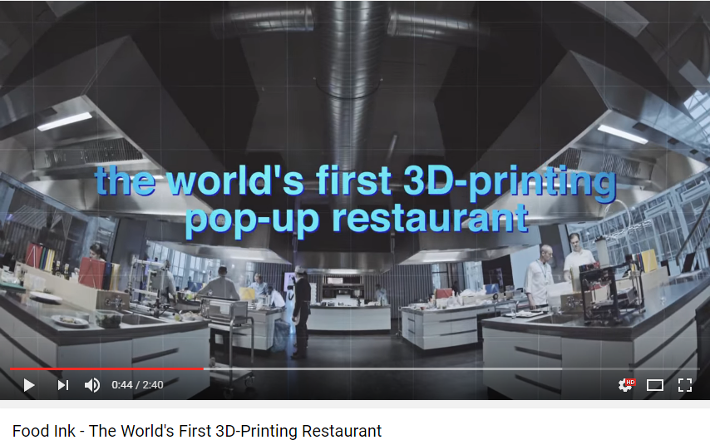 Food Ink – The World's First 3D-Printing Restaurant
