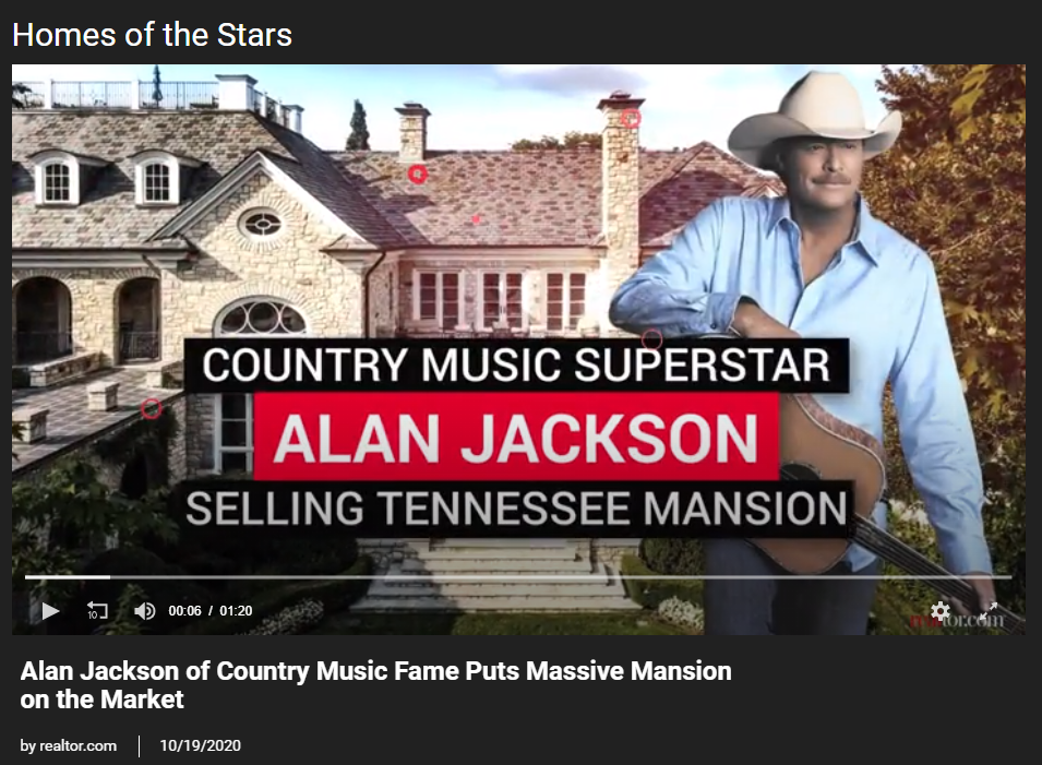 From Realtor.com, Alan Jackson of Country Music Fame Puts Massive Mansion on the Market for Jean-Luc Andriot blog 102120