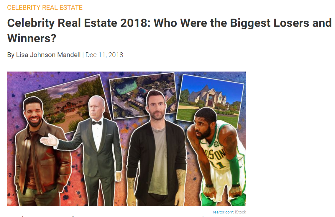 From Realtorcom Celebrity Real Estate 2018 Who Were the Biggest Losers and Winners for Jean-Luc Andriot blog 121118