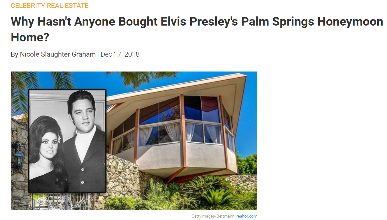 From Realtor.com Celebrity Real Estate Why Hasn't Anyone Bought Elvis Presley's Palm Springs Honeymoon Home  for Jean-Luc Andriot blog 122418