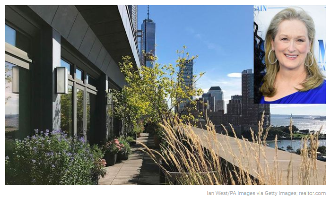 From Realtor.com, Inside Meryl Streep's $25M New York City Penthouse: Its a Jungle in Here for Jean-Luc Andriot blog 082218