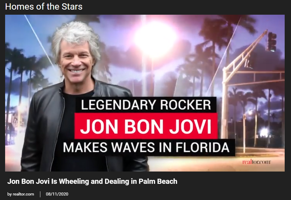 Video - From Realtor.com, Jon Bon Jovi Is Wheeling and Dealing in Palm Beach for Jean-Luc Andriot blog 082020