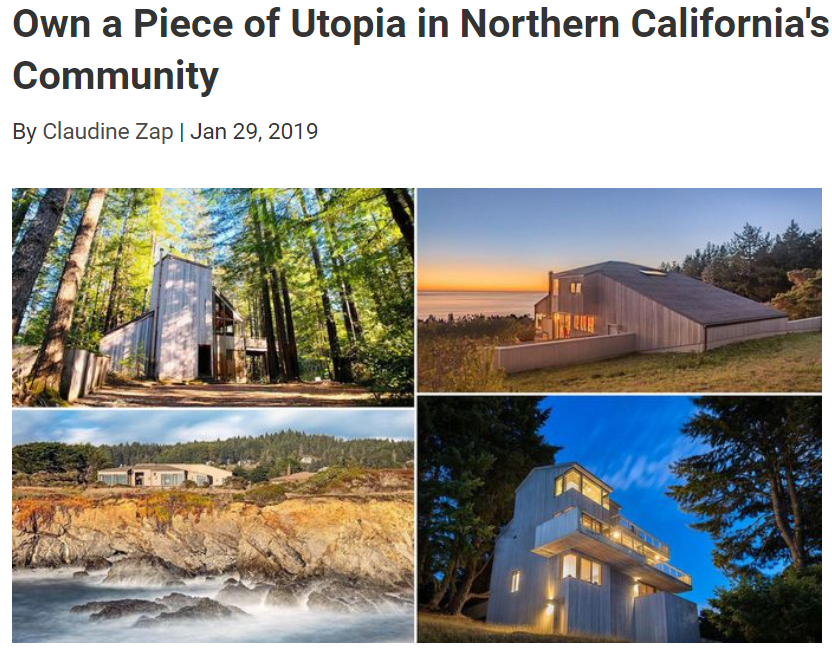 From Realtor.com, own a piece of Utopia in Northern California for Jean-Luc Andriot blog 012919