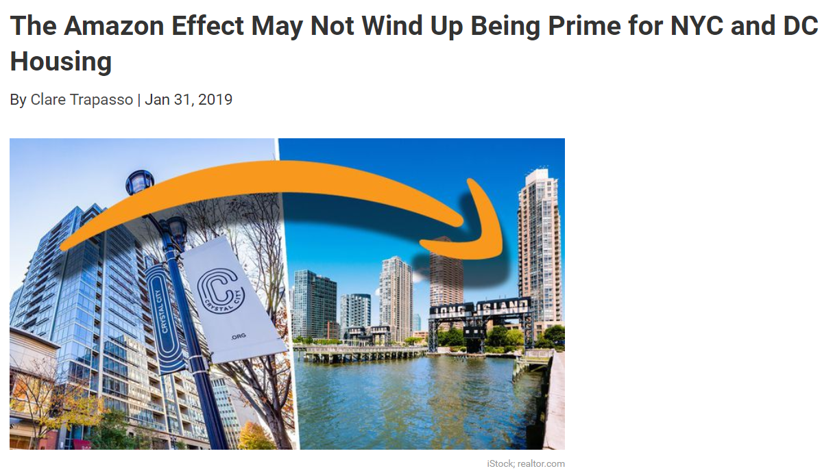 From Realtorcom The Amazon Effect May Not Wind Up Being Prime for NYC and DC Housing  for Jean-Luc Andriot blog 013119