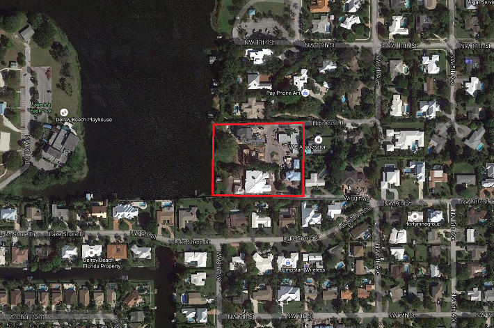 Hibiscus Lake luxury homes for sale in East Delray Beach aerial