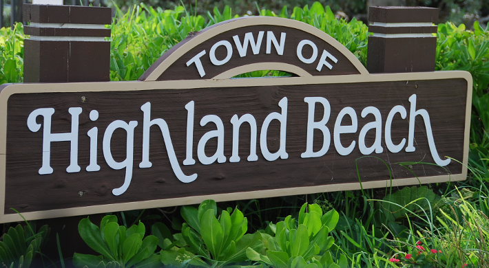 Highland Beach sign