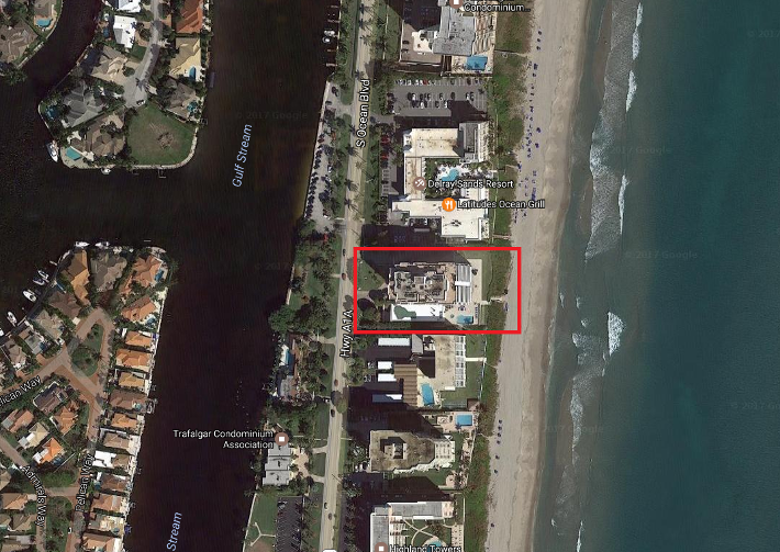 Highlands Place 2901 S Ocean Blvd, Highland Beach, FL 33487 luxury condos for sale aerial