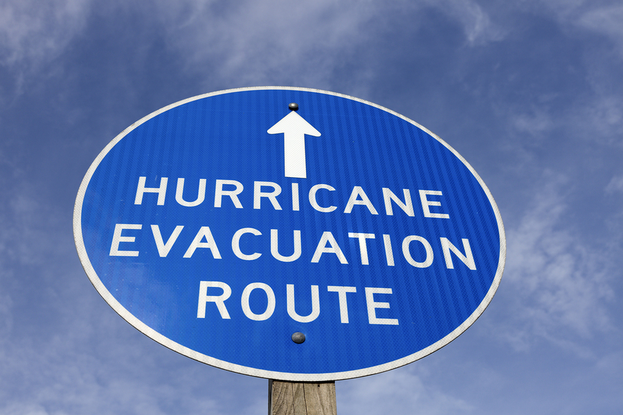 Hurricane evacuation route sign for Jean-Luc Andriot blog 052818