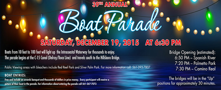 Invitation to Boca Raton boat parade December 19 2015