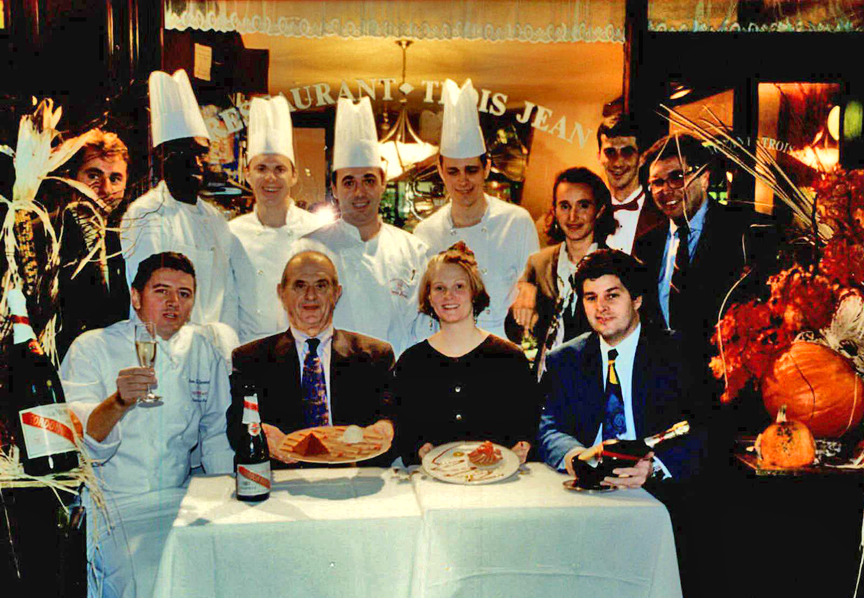 Jean-Luc Andriot and Paul Bocuse at Trois Jean Restaurant New York picture1