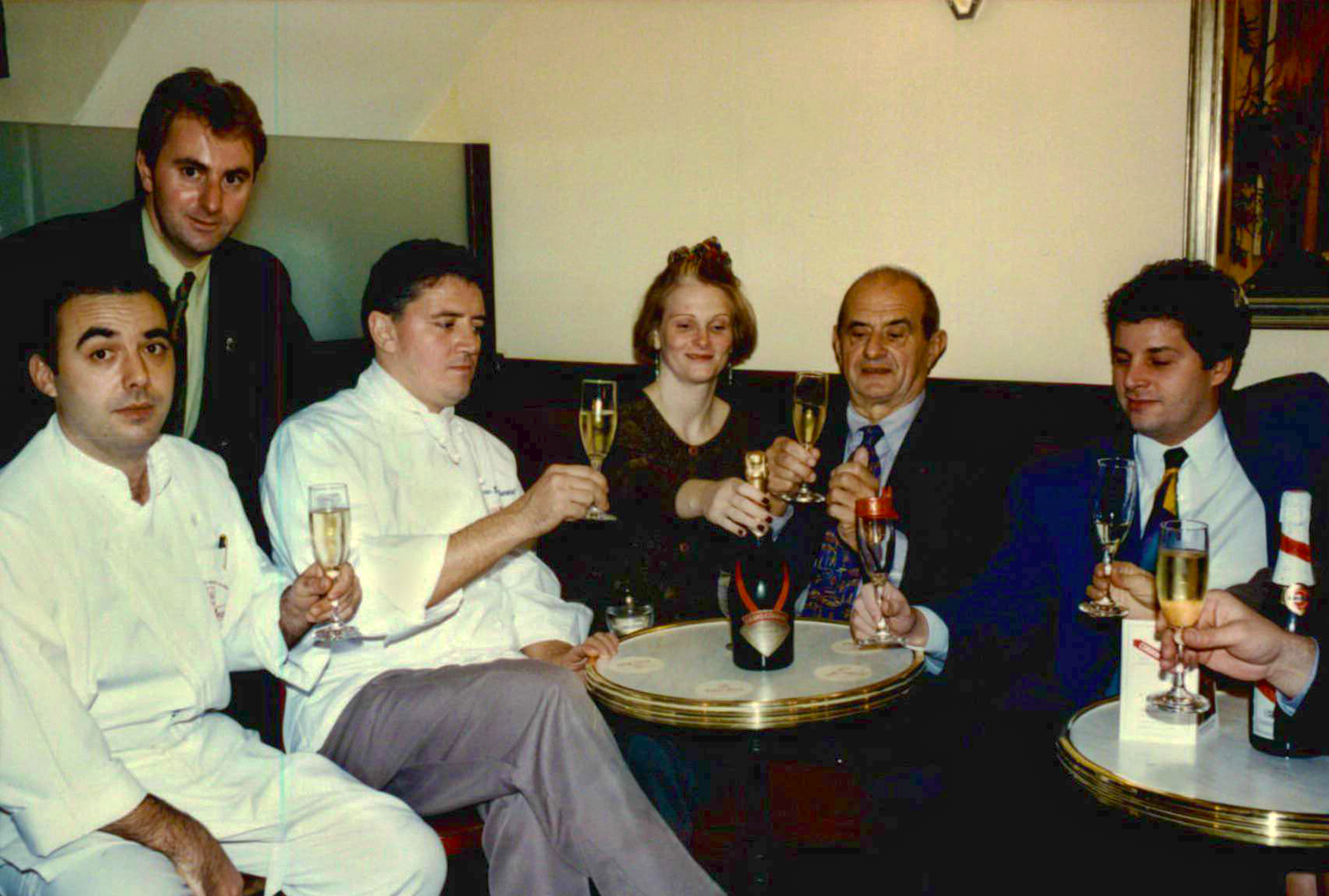 Jean-Luc Andriot and Paul Bocuse at Trois Jean Restaurant New York picture2