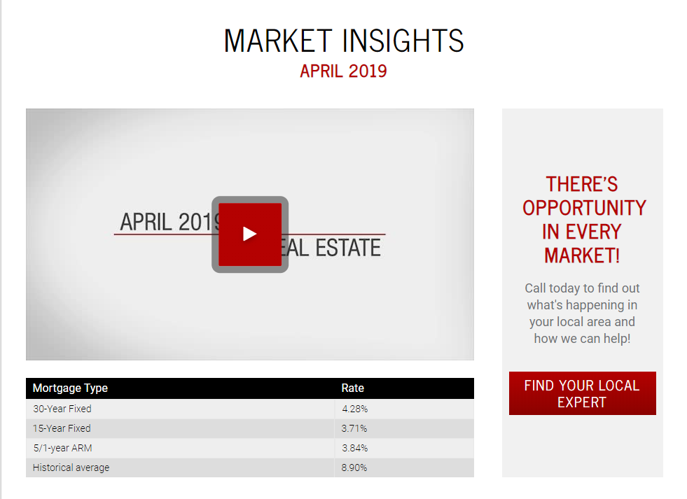 Keller Williams Realty This month in real estate April 2019 for Jean-Luc Andriot blog 041519