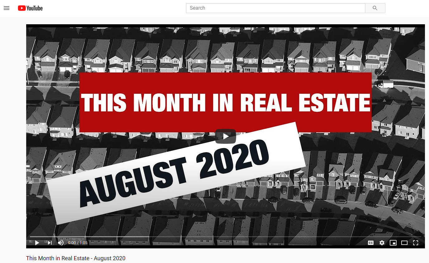 Keller Williams Realty This month in real estate August  2020 for Jean-Luc Andriot blog 081220