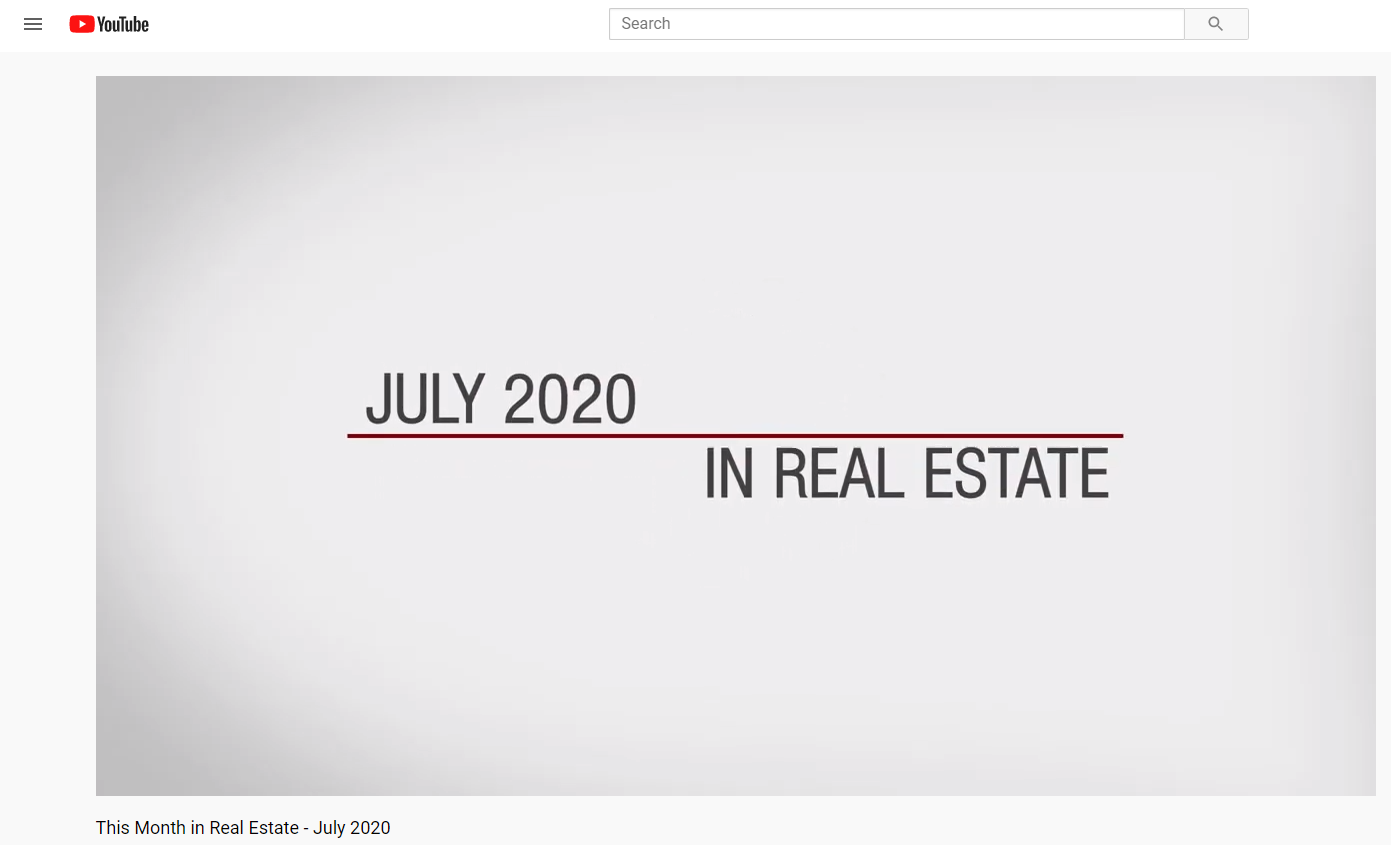 Keller Williams Realty This month in real estate July 2020 for Jean-Luc Andriot blog 071720