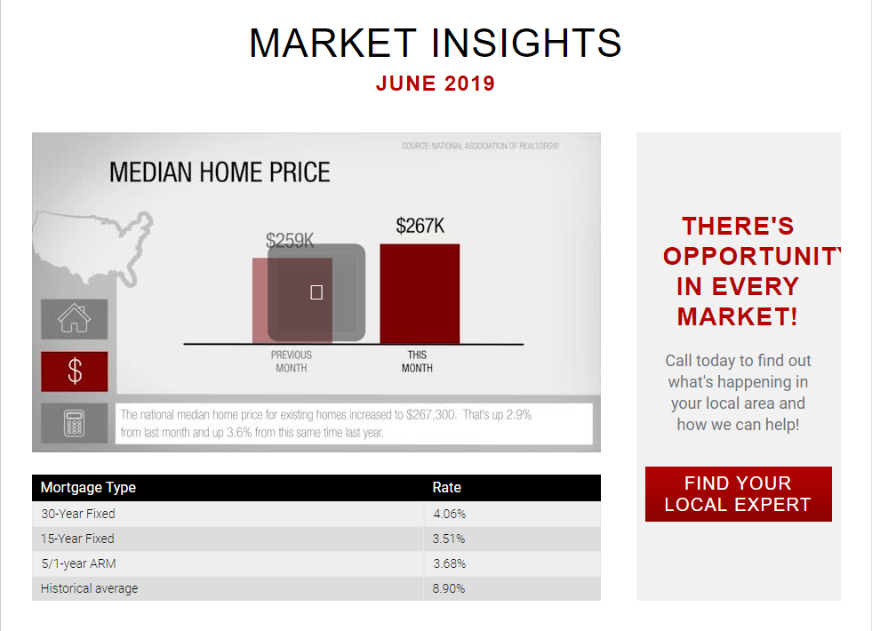 Keller Williams Realty This month in real estate June 2019 for Jean-Luc Andriot blog 062019