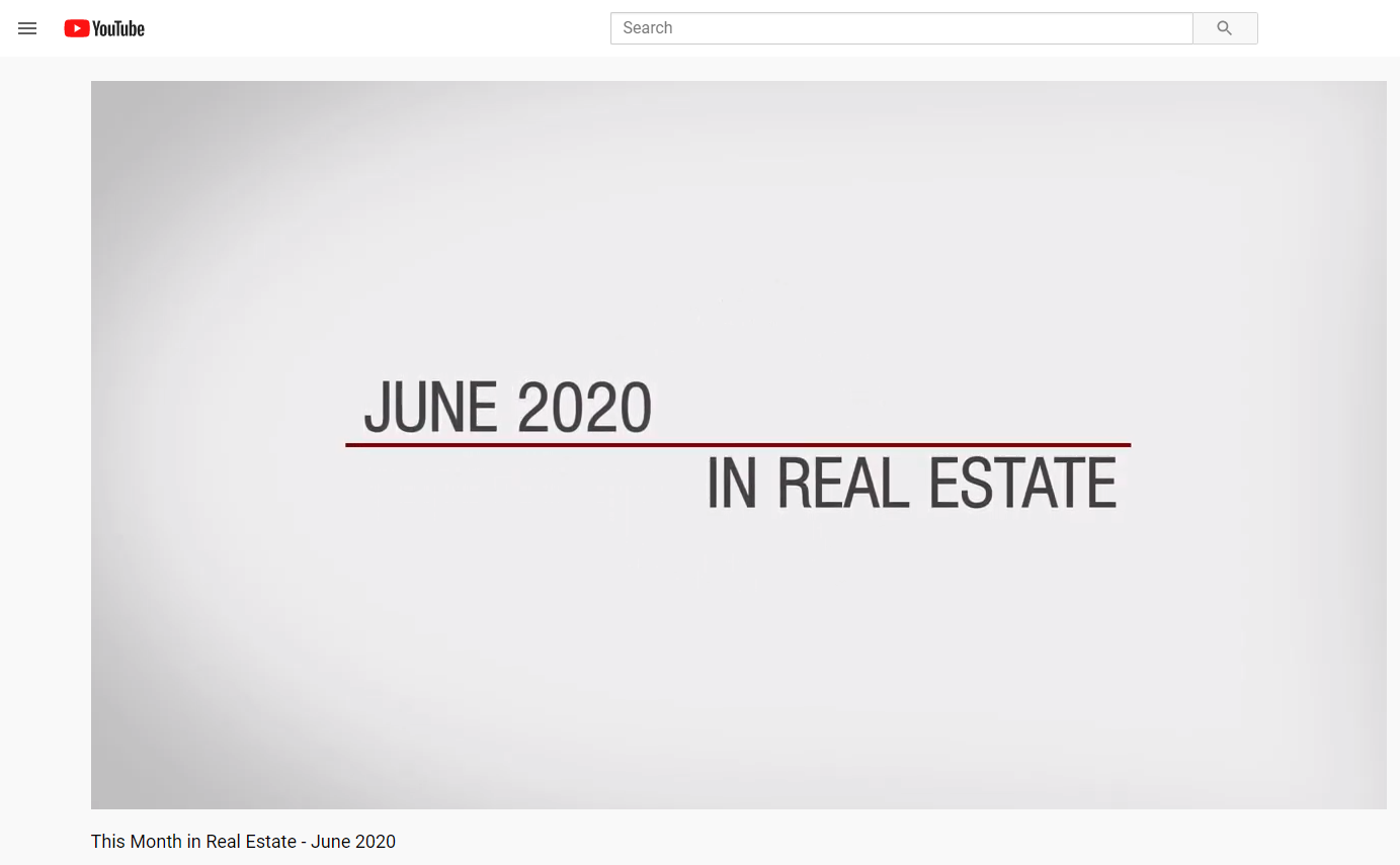 Keller Williams Realty This month in real estate June 2020 for Jean-Luc Andriot blog 060820