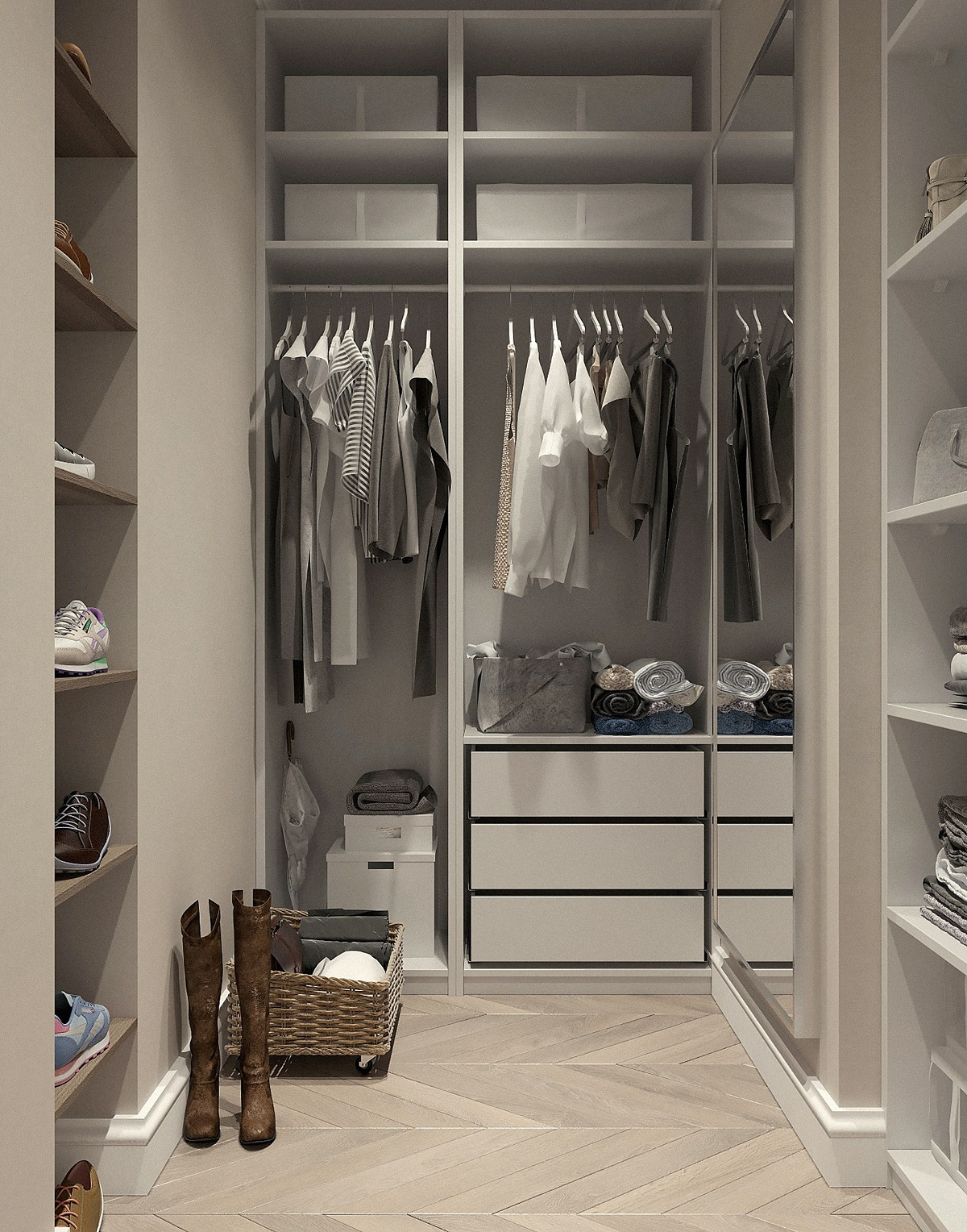Modern closet space for Jean-Luc Andriot blog 042420