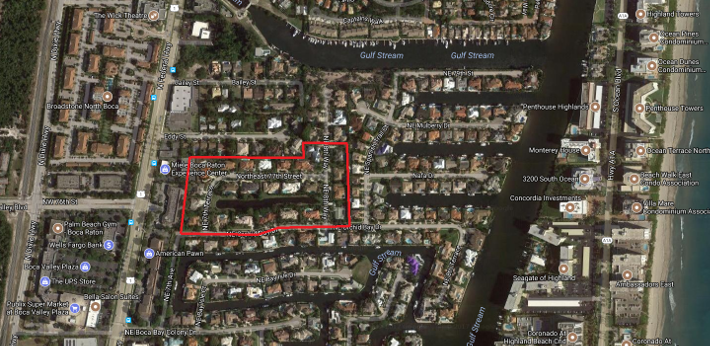 Morningside Boca Raton luxury homes for sale aerial view