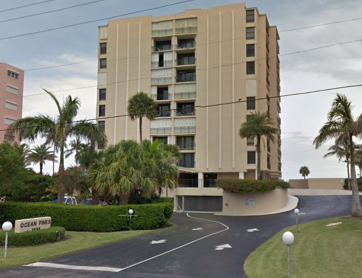 Ocean Pines 3900 S Ocean Blvd Highland Beach, FL 33487 luxury condos for sale view from street