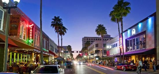 Picture Downtown Delray Beach At Night