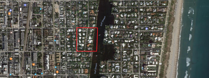 Runnymede Delray Beach luxury homes for sale aerial