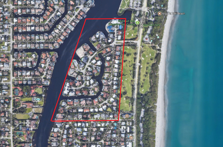 Sun and Surf Boca Raton aerial luxury homes for sale