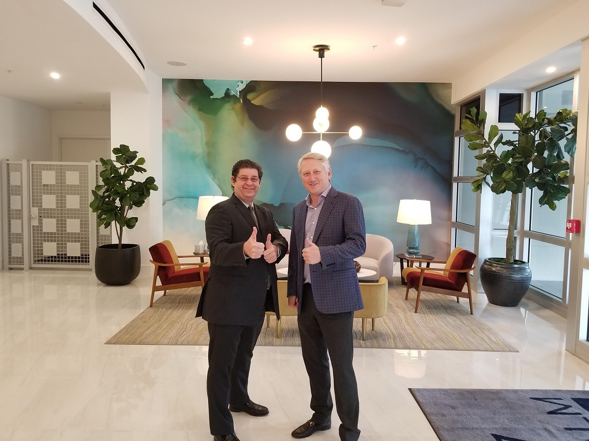 very first sale of Royal Palm Residence done by Jean-Luc Andriot and Todd Richardson