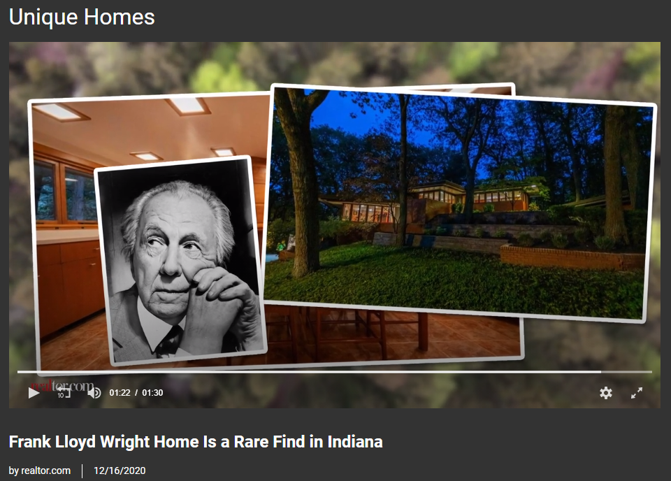 From Realtor.com, Frank Lloyd Wright Home Is a Rare Find in Indiana  for Jean-Luc Andriot blog 010521