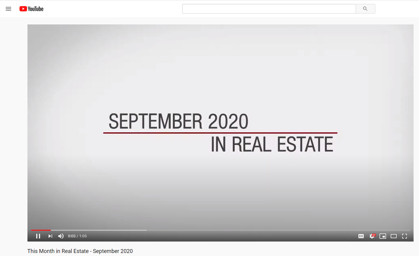 Keller Williams Realty This month in real estate September 2020 for Jean-Luc Andriot blog 091620